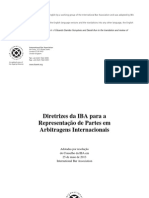 IBA Guidelines on Party Representation in Int Arbitration 2013_PORTUGUESE.pdf