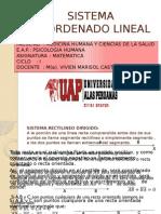 sistema Cordenada Lineal