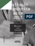 Avaliação Diagnostica 1 Ano Matematica