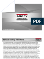 Argex IR Presentation November 20 2014 Presentation