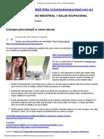 Consejos Para Manejar El Estrés Laboral _ Charlas de Seguridad