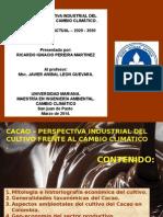 Perspectiva Industrial Del Cultivo de Cacao Frente Al Cambio Climático