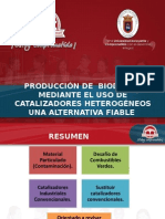 Producción de Biodiesel  Una Alternativa Factible