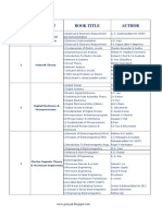 List of Subject Wise Useful Reference Book for GATE,IES - PSUs