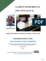 Lyman Filament Extruder v4.1 Manual