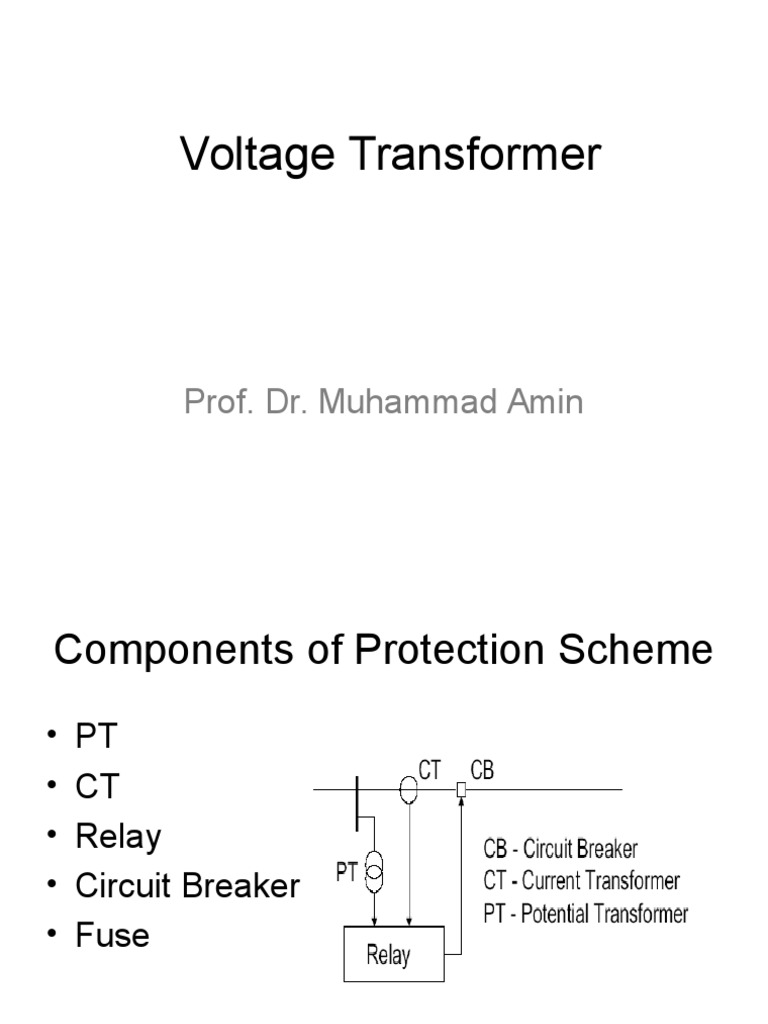 Voltage Transformersppt Capacitor Inductor Current Transformer In Relay