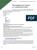 09-03-15 Candidato del PRI al gobierno de Guerrero promete impulso a constructoras locales | El Financiero