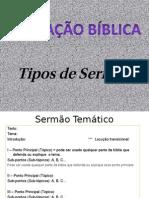 Apresentação Tipos de Sermão