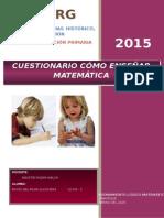 Preguntas Como Enseñar Matemática