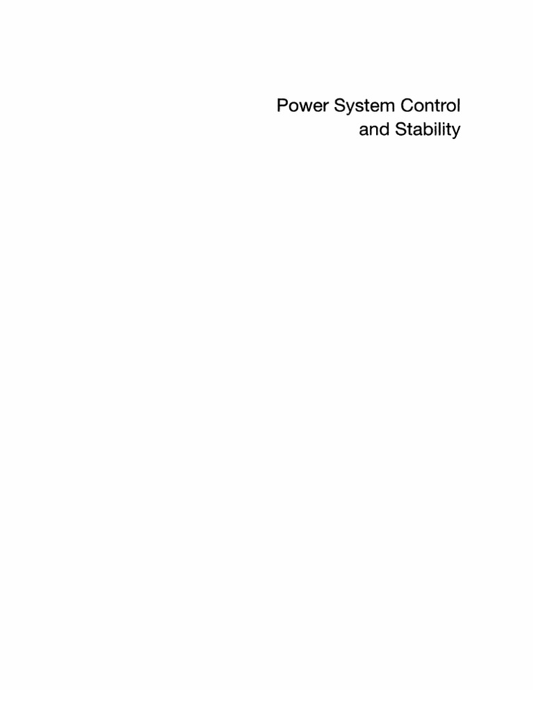 Power System Control And Stability Bu Fuad Physics Mathematics Simple Electrical Circuit Showing Current Flow By Pmb 300 Ad