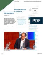 03-03-15 Frenar Caída Libre de Guerrero, Ofrece Astudillo. Con Ciro Gómez Leyva