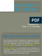 Introduction to Instrumentation and Process Control