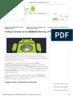 Códigos Secretos en Los Android Samsung y HTC