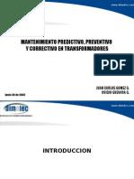 MANTTO. TRANSFORMADORES