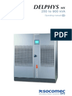 GB DELPHYS MX 250 900 Operating Manual