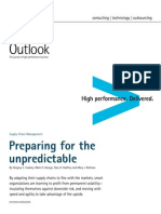 Accenture Outlook Preparing for the Unpredictable Supply Chain SCM