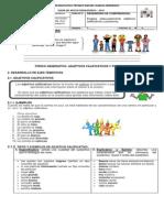 Guia No. 4 y Taller No.4- 7°adjetivos calificativos y posesivos