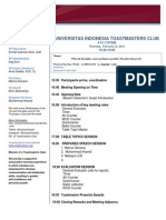 Agenda UI Toastmasters Club - Feb12