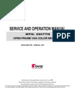 MTG-2907TN Service Manual