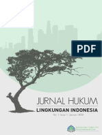 Jurnal Hukum Lingkungan Indonesia Vol 1 Issue 1 Januari 2014