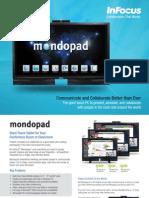 InFocus Mondopad INF5720 INF7021 INF8021 Datasheet