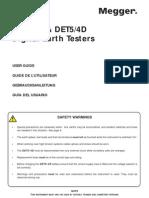 Megger Det 5 4 Earth Tester Manual