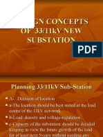 Design Concept of 3311 Kv Substation