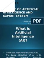 Chapter 9, Group 1 - The Use of Artificial Intelligence and Expert System