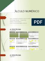 CNUMA1 - Introdução Ao Cálculo Numérico - Estudo Dos Erros