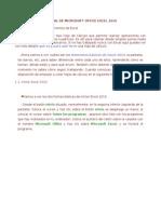 Manual de Microsoft Office Excel 2010