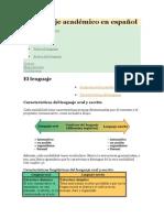 El Lenguaje Académico en Español