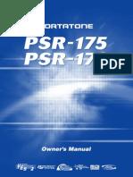 Yamaha Portatone PSR-175 User Manual