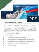 Viaje de graduación a Cancún