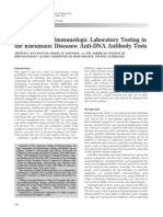 Guidelines for Immunologic Laboratory Testing in the Rheumatic Diseases