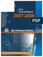 Bal Pharma Annual Report 2007-08 New