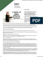5 Habits of Highly Effective Teachers - Teachingcom