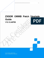 ZXSDR OMMB V12.12.40P55 Patch Upgrade Guide.docx