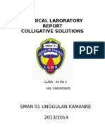 Chemical Laboratory Repor