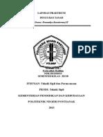 Laporan Praktikum Pengujian Tanah Lapangan