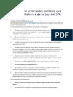 Conozca Los Principales Cambios Que Incluye La Reforma de La Ley Del IVA