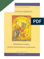 Randuieli Ortodoxe Pentru Inmormantare Si Parastase