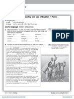 First Trainer 2015 Reading and Use of English
