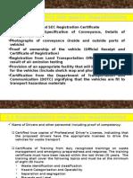 Checklist for HW Transporters Registration
