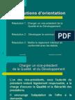 Résolutions d'orientation RIF 23/04/08