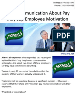 Poor Communication About Pay May Sap Employee Motivation