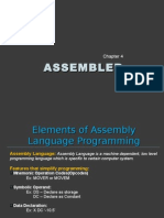 Elements of Assembly Language Programming