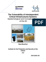 The Vulnerability of interdependent Critical Infrastructures Systems