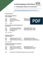 Program Malmo Svenska Kolorektaldagarna_2015