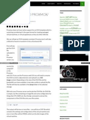 Www Jamescoyle Net How to 1218 Upload Ova to Proxmox Kvm | Html
