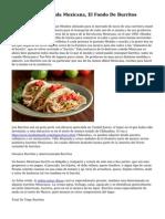 Comun De La Comida Mexicana, El Fondo De Burritos